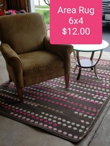 Area Rug 6x4 brown, pink dots in Plainfield, Illinois