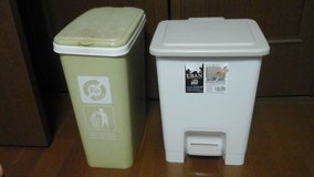 2 garbage cans in Okinawa, Japan