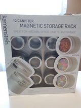 12 Canister Magnetic Storage Rack, in box in Fort Campbell, Kentucky