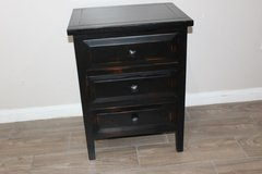 Distressed Night Stand (black) in Kingwood, Texas