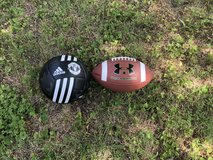 Brand new football and soccer ball. in Rolla, Missouri