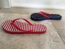 Big Kid Old Navy 4th of July Flip Flops - Women's Size 5 in Bolingbrook, Illinois