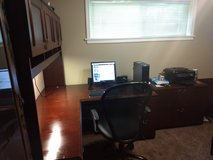 Large Excutive desk, chair in Leesville, Louisiana