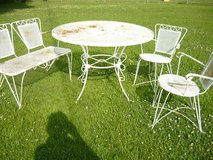 Outdoor table set in Fort Campbell, Kentucky