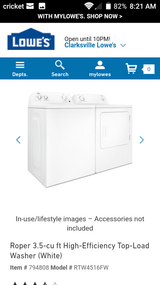 Nearly New Washer + Dryer set in Fort Campbell, Kentucky