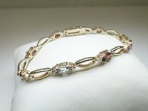 Gold over 925 Silver Gemstone Bracelet in Pearland, Texas