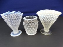 Opalescent Hobnail Vases in Pearland, Texas