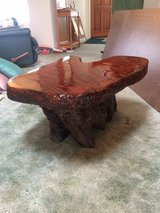 live edge redwood side table in 29 Palms, California