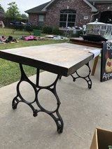 Wood and Wrought Iron Coffee Table in Leesville, Louisiana