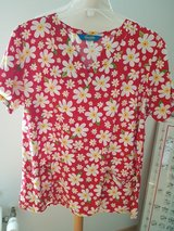Scrub tops medium. Yellow red daisy in Ramstein, Germany