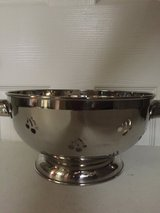 3 Qt Stainless Steel Colander (used as decoration) in Eglin AFB, Florida