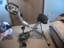 Exerpeutic  Folding upright bike with pulse reader, distance speed and monitors heart rate. in Lawton, Oklahoma