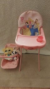 Disney Princess baby doll carrier and high chair in 29 Palms, California