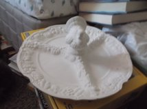 unpainted ceramic 4 section turkey plate in Alamogordo, New Mexico