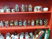 Collectable drinking glasses ($5-10) in Cherry Point, North Carolina