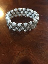 New Pearl and Rhinestone Stretch Bracelet in Lockport, Illinois