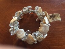 New Shell and Glass Bead Bracelet with Magnetic Closure (Retail $28.00) in Lockport, Illinois