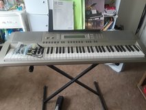 Casio Keyboard WK-200 and stand with Power Cord, Manual, Song Books, Pedal, and Piano Lesson Book in Aurora, Illinois