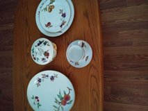 Porcelain Evesham service of 12 total of 96 pieces used once,no chips or other problems. in Beaufort, South Carolina