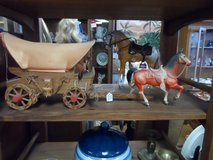 Wagon and horse in Cherry Point, North Carolina