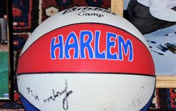 Autographed Harlem Hornets Basketball in Cherry Point, North Carolina