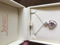 New! 10k white gold amethyst and diamond necklace in Byron, Georgia