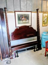 solid cherry carved queen 4 poster bed in Cherry Point, North Carolina
