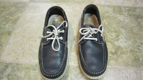 By Lagarto Men's Navy Leather Lace Up Boat Shoes Size 8 in Chicago, Illinois