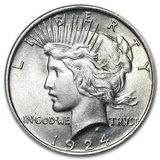 1924 Peace Dollar BU in Leesville, Louisiana