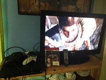 """PS3 With 2 Controllers a Game & Guitar & SANYO 26"""" TV with Remote in Fort Knox, Kentucky"""