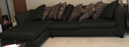 Couch - L shape- dark grey- sectional in Fort Campbell, Kentucky
