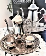 Coffee set with tray.Silver-plated New in St. Charles, Illinois