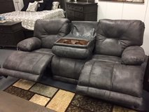 3 seat reclining sofa with pull down console in Cherry Point, North Carolina