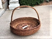 LARGE ROUND WICKER BASKET   PLANT/PATIO/CONTAINER BASKET in Naperville, Illinois