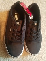 Vans Skate Shoes  Boys 3 Dark Grey w Black Laces NEW in Yorkville, Illinois