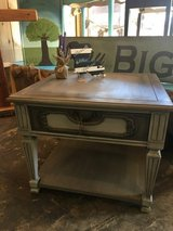 Gray side table with drawer, heavy in Leesville, Louisiana