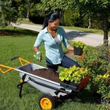 WORX Aerocart Multifunction 2-Wheeled Yard Cart, Dolly, and Wheelbarrow with Flat Free Tires – W... in Aurora, Illinois