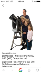 Celestron 800 telescope in Fort Polk, Louisiana
