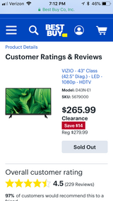 "Brand new 43"" Vizio tv in Chicago, Illinois"