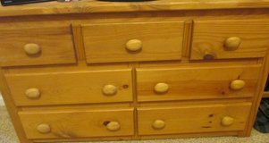 Boys dresser w/ Mirror  Solid Pine Wood 5-Drawer Dresser in Honey in Fort Campbell, Kentucky