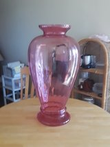 large pink glass vase in 29 Palms, California