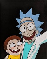 "Rick & Morty ""Selfie"" acrylic painting in Camp Pendleton, California"