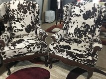 2 New Wing Cowhide Wing Back Chair in Fort Polk, Louisiana