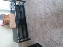 black metal and glass tv stand in Fort Knox, Kentucky