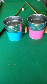 Metal pails in Chicago, Illinois