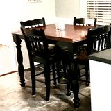 Tall Kitchen Table w/ 6 chairs in Cherry Point, North Carolina