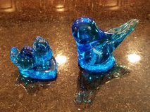 2 Leo Ward Bluebirds of Happiness Paperweights in Yorkville, Illinois