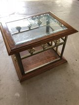 Square end table with glass top in Lawton, Oklahoma