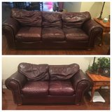 Leather Couch and Loveseat in Naperville, Illinois