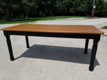 Antique farm table, $800 new HEAVY!!! OAK TOP WITH THICK, CHUNKY LEGS! 76L x 36W x 30.5 H in Aurora, Illinois